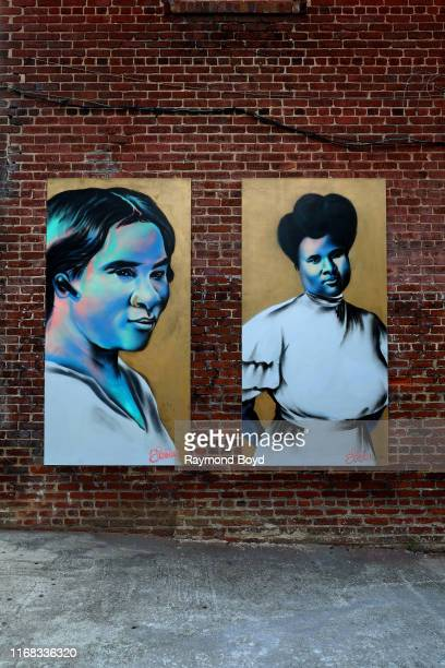 Fabian 'Occasional Superstar' Williams' 'Madam CJ Walker' mural is displayed in the Old Fourth Ward neighborhood in Atlanta Georgia on July 27 2019...