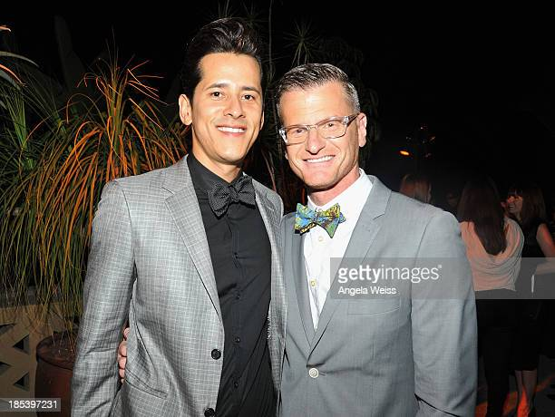 Fabian Quezada and TV personality Marc Malkin attend 'An Evening Under The Stars' benefiting The LA Gay Lesbian Center at a private residency on...