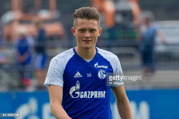 Fabian Reese of Schalke looks on during a training session at the FC Schalke 04 Training center on August 30 2017 in Gelsenkirchen Germany
