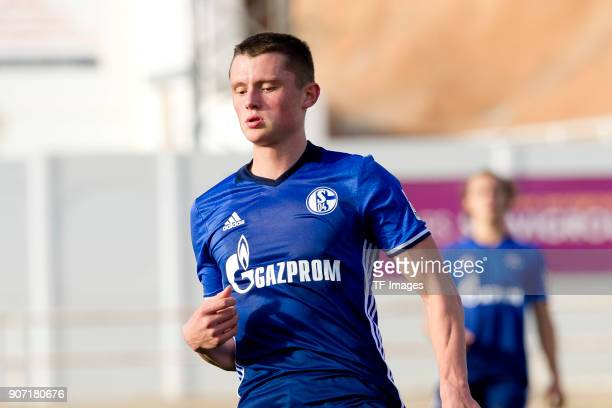 Fabian Reese of Schalke looks on during the Friendly match between FC Schalke 04 and KRC Genk at Estadio Municipal Guillermo Amor on January 07 2018...
