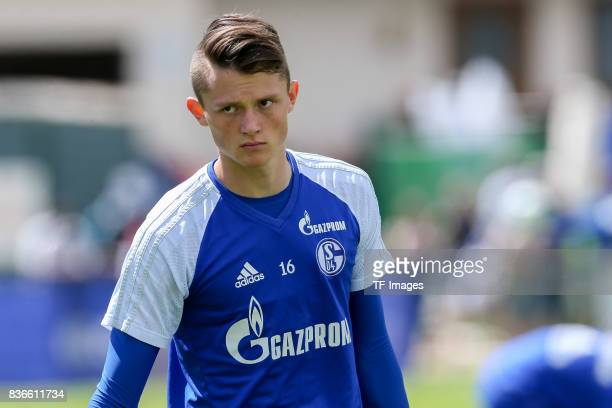 Fabian Reese of Schalke looks on during the Training Camp of FC Schalke 04 on July 28 2017 in Mittersill Austria