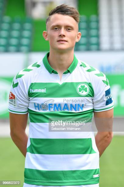 Fabian Reese of SpVgg Greuther Fuerth poses during the team presentation at Sportpark Ronhof Thomas Sommer on July 11 2018 in Fuerth Germany