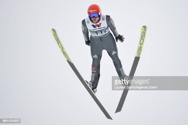 Fabian Riessle of Germany takes 2nd place during the FIS Nordic World Cup Men's and Women's Nordic Combined HS100/Team on December 2 2017 in...