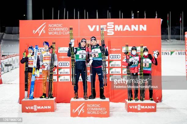 Fabian Riessle of Germany, Vinzenz Geiger of Germany, Joergen Graabak of Norway, Jarl Magnus Riiber of Norway, Ryota Yamamoto of Japan, Akito Watabe...