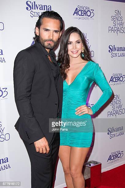 Fabian Rios and Carmen Villalobos attend premiere of new Telemundo productions Silvana Sin Lana Sin Senos Si Hay Paraiso and Senora Acero 3 La Coyote...