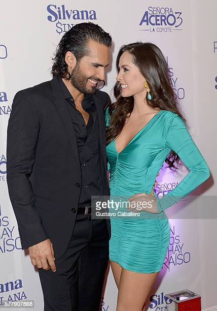 Fabian Rios and Carmen Villalobos attends premiere of new Telemundo productions Silvana Sin Lana Sin Senos Si Hay Paraiso and Senora Acero 3 La...