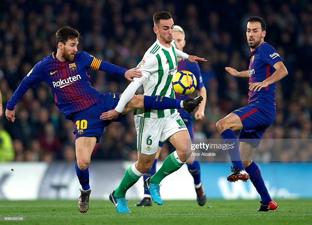 Real Betis v Barcelona - La Liga : News Photo