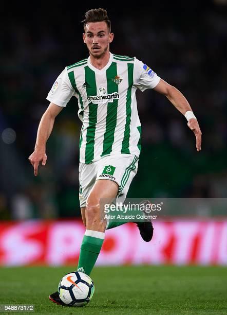 Fabian Ruiz of Real Betis Balompie in action during the La Liga match between Real Betis and Las Palmas at Estadio Benito Villamarin on April 19 2018...