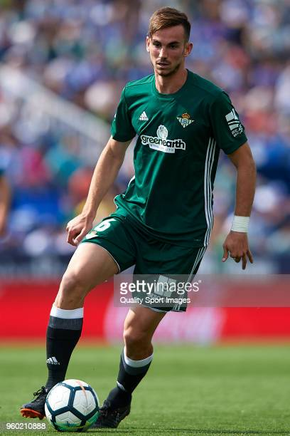 Fabian Ruiz of Real Betis in action during the La Liga match between Leganes and Real Betis at Estadio Municipal de Butarque on May 19 2018 in...