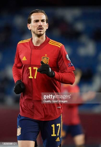 Fabian Ruiz of Spain looks on during the FIFA World Cup 2022 Qatar qualifying match between Georgia and Spain at Boris Paichadze National Stadium on...