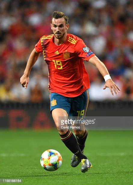 Fabian Ruiz of Spain runs with the ball during the UEFA Euro 2020 qualifier match between Spain and Sweden at Bernabeu on June 10 2019 in Madrid Spain