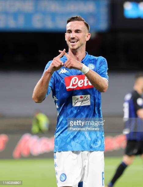Fabian Ruiz of SSC Napoli celebrates the 40 goal during the Serie A match between SSC Napoli and FC Internazionale at Stadio San Paolo on May 19 2019...
