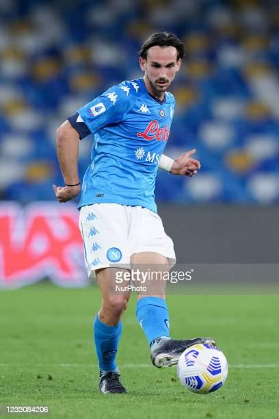 Fabian Ruiz of SSC Napoli during the Serie A match between SSC Napoli and Hellas Verona at Stadio Diego Armando Maradona, Naples, Italy on 23 May...