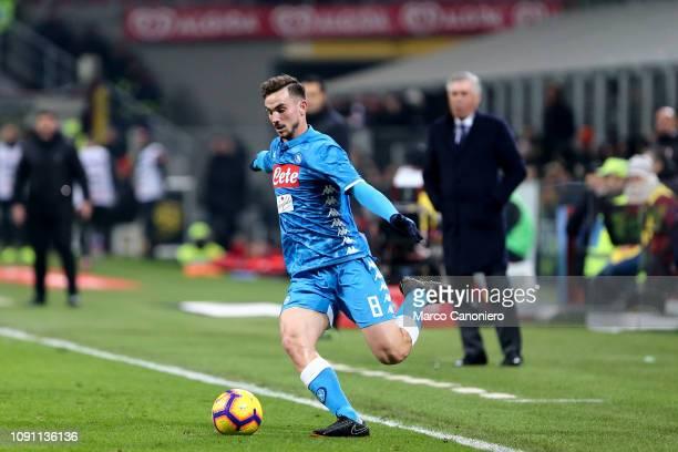 Fabian Ruiz of Ssc Napoli in action during Coppa Italia quarterfinals football match between Ac Milan and Ssc Napoli Ac Milan wins 20 over Ssc Napoli