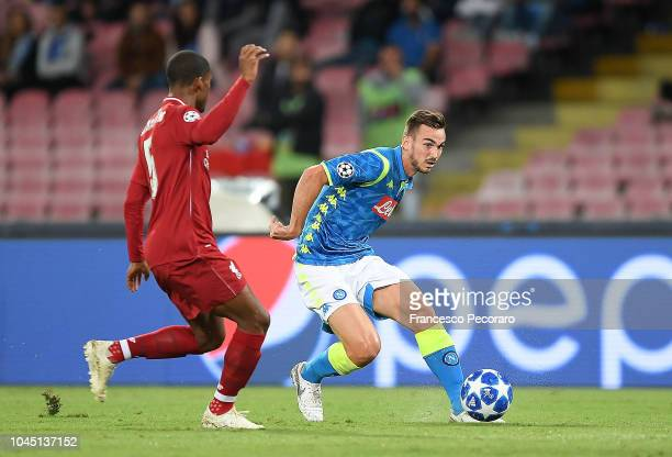 Fabian Ruiz of SSC Napoli in action during the Group C match of the UEFA Champions League between SSC Napoli and Liverpool at Stadio San Paolo on...