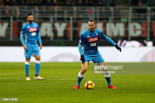 Fabian Ruiz of Ssc Napoli in action during the Serie A football match between Ac Milan and Ssc Napoli The match end in a tie 00