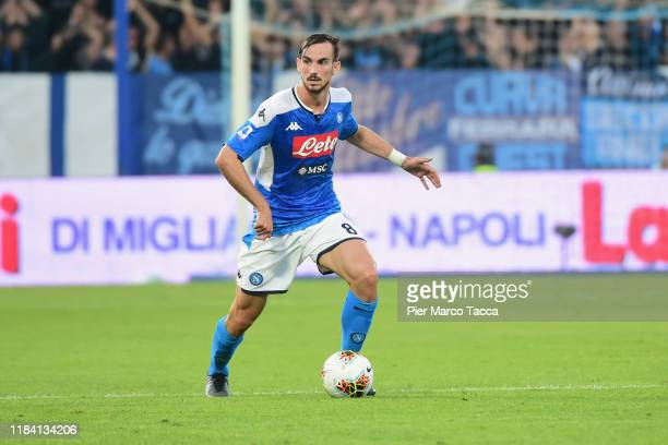 Fabian Ruiz of SSC Napoli in action during the Serie A match between SPAL and SSC Napoli at Stadio Paolo Mazza on October 27 2019 in Ferrara Italy