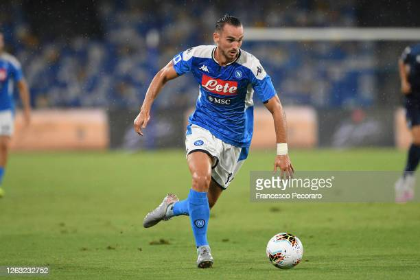 Fabian Ruiz of SSC Napoli in action during the Serie A match between SSC Napoli and SS Lazio at Stadio San Paolo on August 01 2020 in Naples Italy