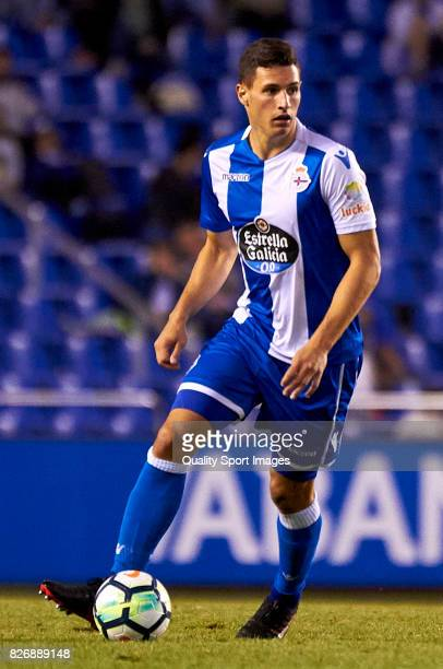 Fabian Schar of Deportivo de La Coruna in action during the Pre Season Friendly match between Deportivo de La Coruna and West Bromwich Albion at...