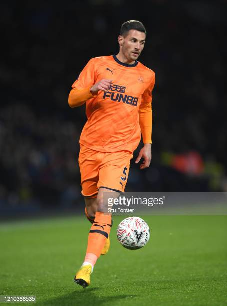 Fabian Schar of Newcastle United in action during the FA Cup Fifth Round match between West Bromwich Albion and Newcastle United at The Hawthorns on...