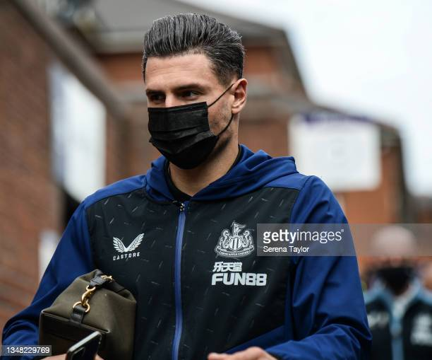 Fabian Schär of Newcastle United FC arrives for the Premier League match between Crystal Palace and Newcastle United at Selhurst Park on October 23,...