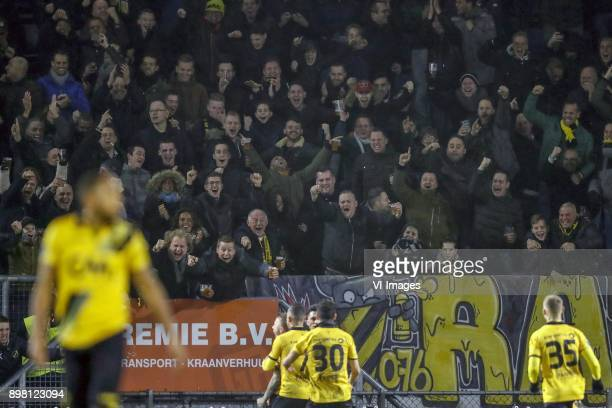Fabian Sporkslede of NAC Breda Giovanni Korte of NAC Breda Jose Angelino of NAC Breda Gianluca Nijholt of NAC Breda James Horsfield of NAC Breda...