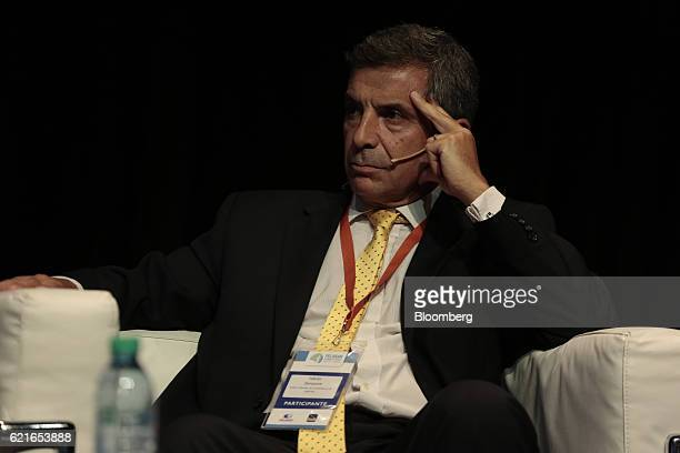 Fabian Zampone director of financial and foreign exchange institutions for the Central Bank of Argentine Republic listens during a panel discussion...