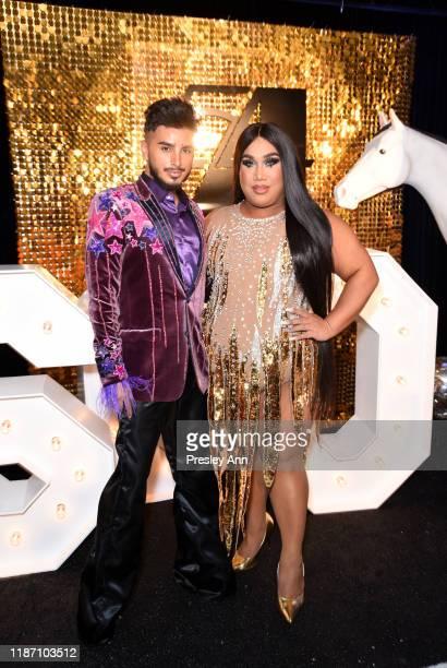 Fabian Zvon Quinonez and Patrick Starrr attend Patrick Starrr birthday party on November 11 2019 in Los Angeles California