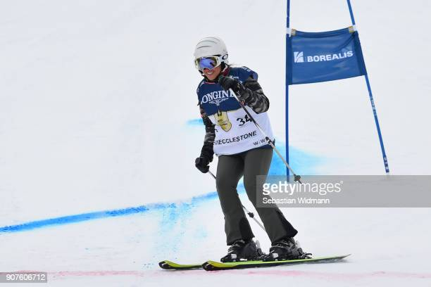 Fabiana Ecclestone takes part in the KitzCharityTrophy on January 20, 2018 in Kitzbuehel, Austria.
