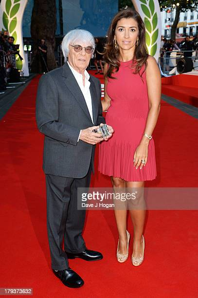 Fabiana Flosi and Bernie Ecclestone attend the Rush world premiere at The Odeon Leicester Square on September 2 2013 in London England