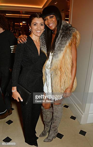 Fabiana Flosi and Naomi Campbell attend an event hosted by Naomi Campbell Burberry and TASCHEN to celebrate the launch of 'Naomi' at Burberry's at...