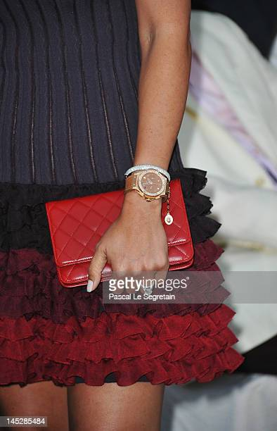 Fabiana Flosi fiancee of F1 Supremo Bernie Ecclestone attends the Amber Fashion Show and Charity Auction at Le Meridien Beach Plaza Hotel on May 25...