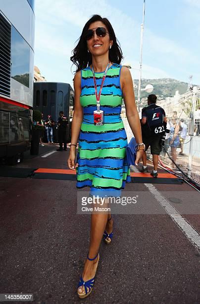 Fabiana Flosi fiancee of F1 supremo Bernie Ecclestone is seen in the paddock before the Monaco Formula One Grand Prix at the Circuit de Monaco on May...