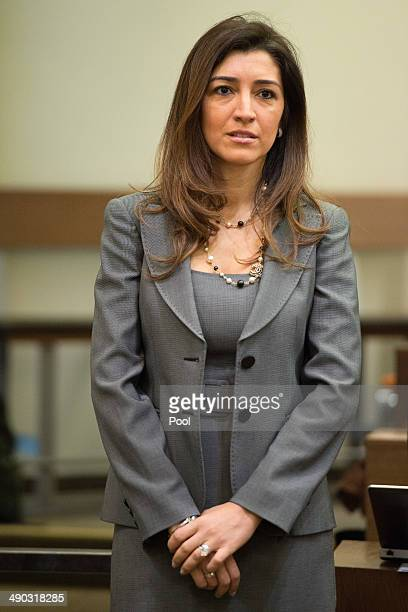 Fabiana Flosi wife of Bernie Ecclestone the 83yearold controlling business magnate of Formula One racing attends his trial for bribery on May 14 2014...
