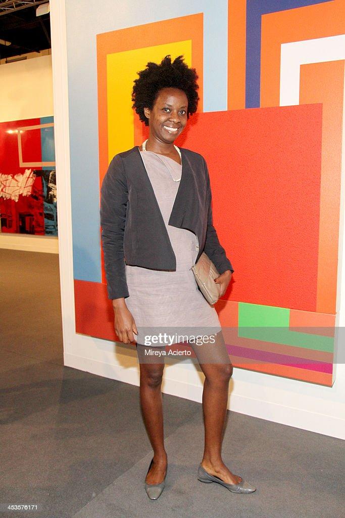 Fabiana Lopes Wearing A Heloisa Faria Dress And Jacket Attends Art Basel Miami Beach