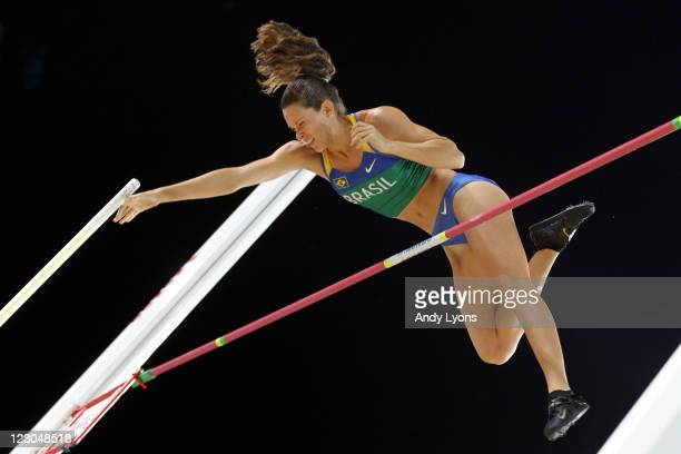 Fabiana Murer of Brazil competes in the women's pole vault final during day four of the 13th IAAF World Athletics Championships at the Daegu Stadium...