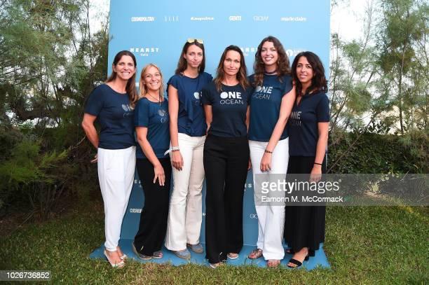 Fabiana Nogueira Ombretta Pezzoni Julia Tazartes Anne de Carbuccia Sara Tazartes and Veronica Villa attend One Ocean at Venice Film Festival on...