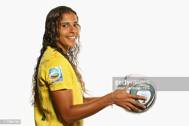 Fabiana of Brazil during the FIFA portrait session on June 26 2011 in Dusseldorf Germany