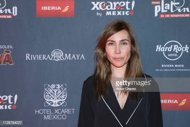 Fabiana Perzabal attends a red carpet for the shortlist presentation of the Premios Platino at Cineteca Nacional on February 18 2019 in Mexico City...