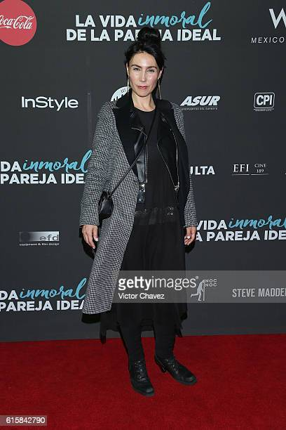 Fabiana Perzabal attends La Vida Inmoral De La Pareja Ideal Mexico City premiere at Teatro Metropolitan on October 19 2016 in Mexico City Mexico