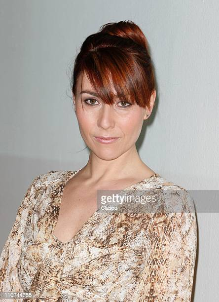 Fabiana Perzabal during a press conference in which it announces the second season of the tv serie called Bienes Raices on March 14 2011 in Mexico...