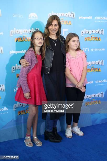 Fabiana Perzabal poses for photos during the premiere of the film Playmobil at Cinepolis Universidad on August 10 2019 in Mexico City Mexico