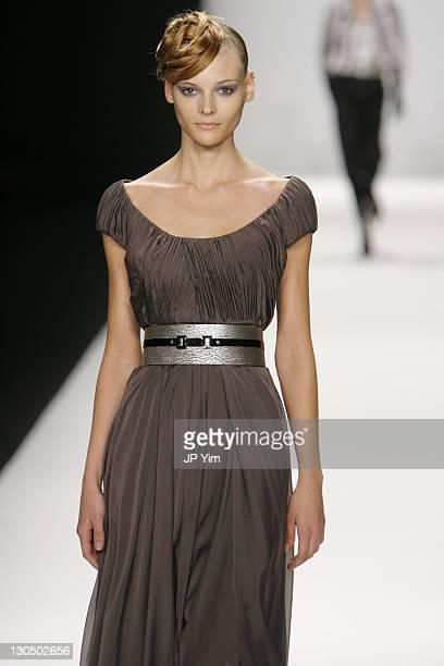 Fabiana Semprebom wearing Carmen Marc Valvo Fall 2007