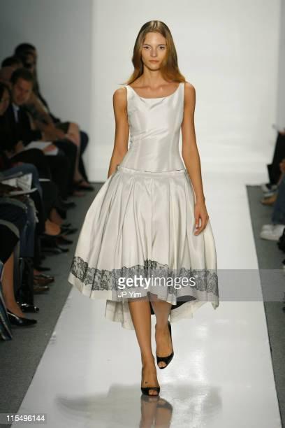 Fabiana Semprebom wearing Jason Wu Spring 2007 during Olympus Fashion Week Spring 2007 Jason Wu Runway at The Atelier Bryant Park in New York City...