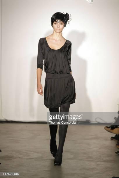 Fabiana Semprebom wearing Malandrino Fall 2007 during MercedesBenz Fashion Week Fall 2007 Malandrino Runway at Chelsea Art Museum in New York City...