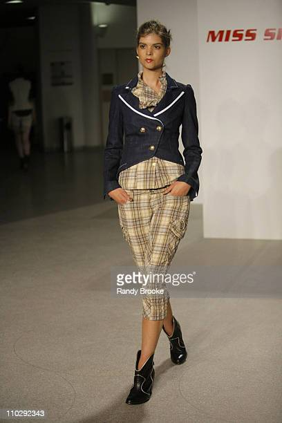 Fabiana Semprebom wearing Miss Sixty Spring 2007 during Olympus Fashion Week Spring 2007 Miss Sixty Runway at Guggenheim Museum in New York City New...