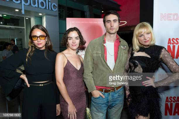 Fabianne Therese Ana Coto Oliver Edwin and Holiday Sidewinder attend the Premiere Of Neon And Refinery29's Assassination Nation at ArcLight Hollywood...