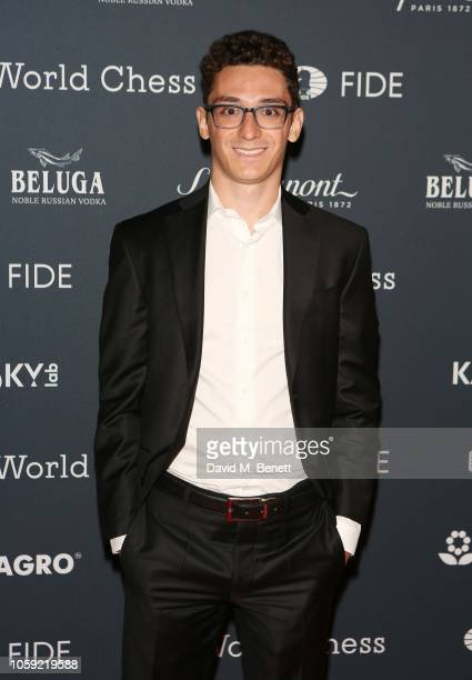 Fabiano Caruana attends the FIDE World Chess Championship 2018 Gala Opening 2018 at The VA on November 8 2018 in London England