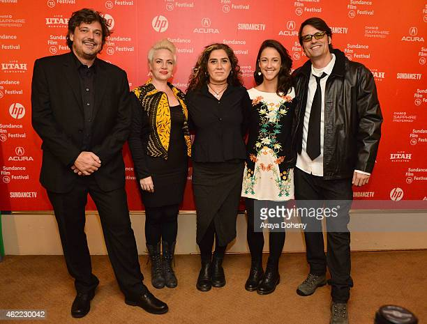 Fabiano Gullane Karine Teles Anna Muylaert Camila Mardila and Caio Gullane attend 'The Second Mother' Premiere 2015 Sundance Film Festival during the...
