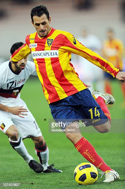 Fabiano of Lecce in action during the Serie A match between Lecce and Genoa at Stadio Via del Mare on December 5 2010 in Lecce Italy